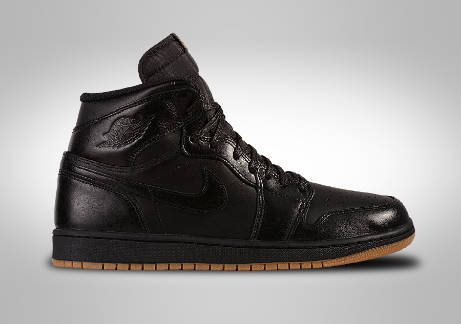 Air Jordan 1 Retro De Alta Og Negro / Negro-goma De Color Marrón Claro