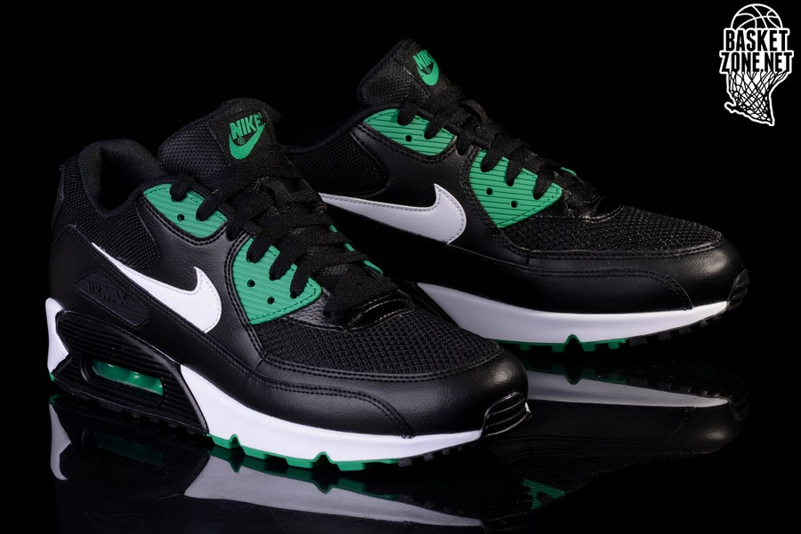 145311416c9 NIKE AIR MAX 90 ESSENTIAL  BLACK LUCID GREEN  ...