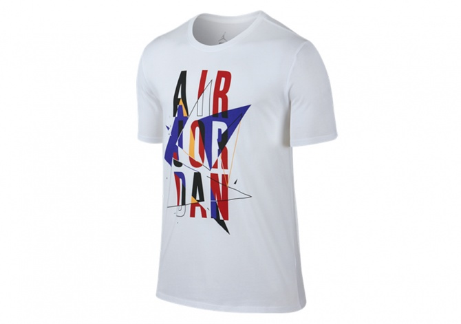 NIKE AIR JORDAN VII STACKED TEE WHITE BRIGHT CONCORD