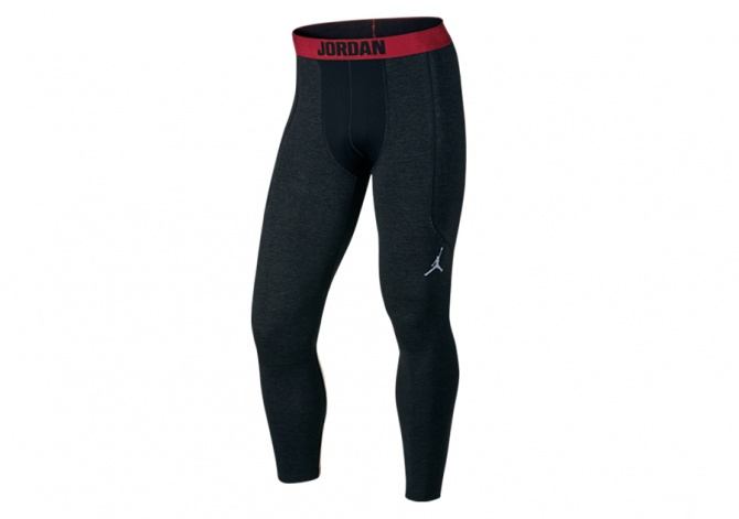 NIKE AIR JORDAN STAY WARM COMPRESSION SHIELD TIGHTS RED