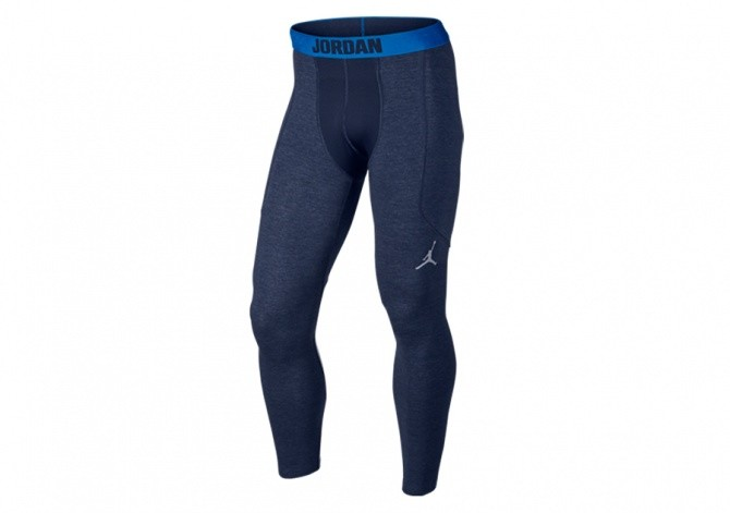 NIKE AIR JORDAN STAY WARM COMPRESSION SHIELD TIGHTS NAVY
