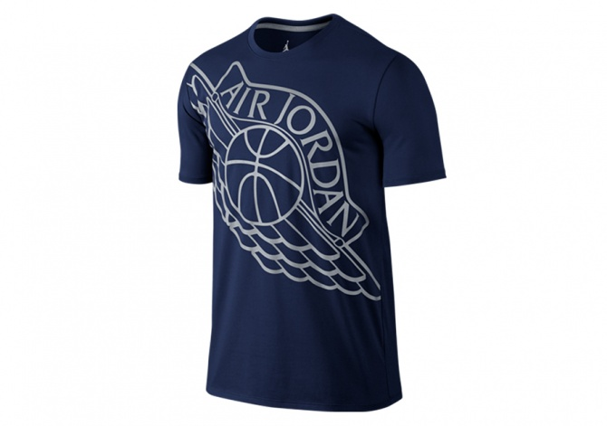 NIKE AIR JORDAN WINGSPAN TEE MIDNIGHT NAVY