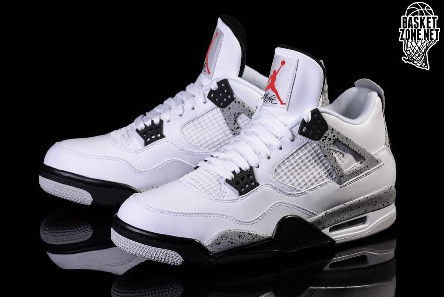 Nike Air Jordan 4 Prix Du Ciment Blanc