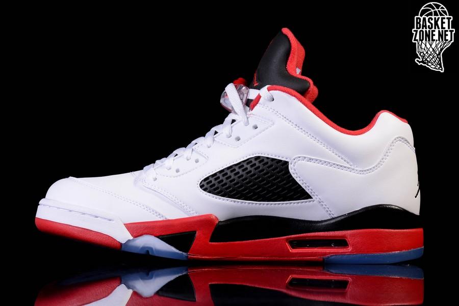 lowest price a53c3 1a92e NIKE AIR JORDAN 5 RETRO LOW FIRE RED