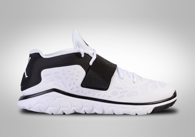 NIKE AIR JORDAN FLIGHT FLEX TRAINER 2 WHITE BLACK