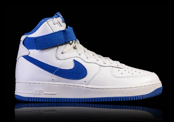 NIKE AIR FORCE 1 HIGH RETRO QS WHITE ROYAL
