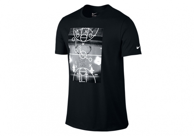 NIKE COURT PLAYS TEE BLACK