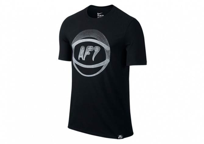NIKE AF1 BALL ART TEE BLACK