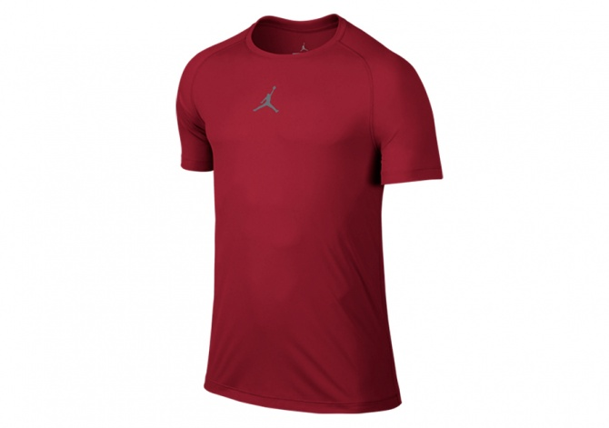 NIKE AIR JORDAN ALL SEASON FITTED TOP GYM RED
