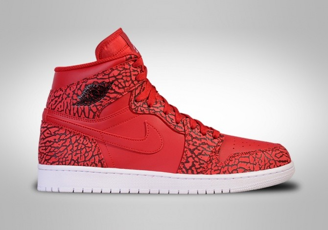 NIKE AIR JORDAN 1 RETRO HIGH GYM RED ELEPHANT PRINT