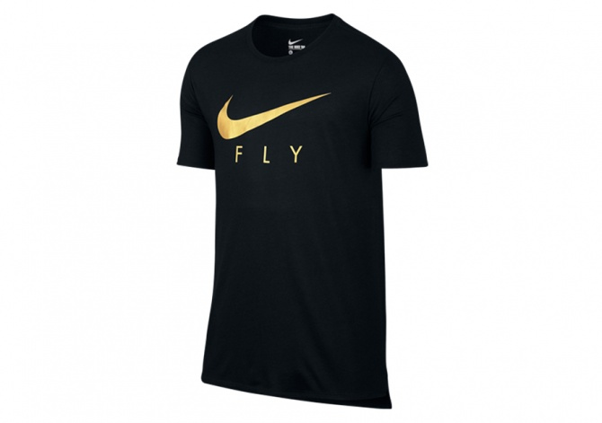 NIKE FLY DROPTAIL TEE BLACK GOLD
