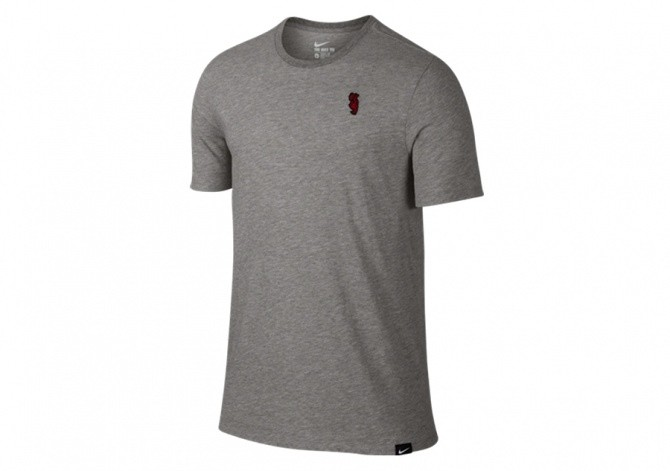 NIKE KYRIE EMBROIDEROO TEE GREY HEATHER