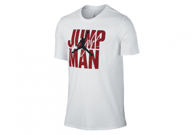 NIKE AIR JORDAN JUMPMAN FLIGHT TEE WHITE