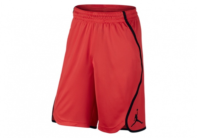 NIKE AIR JORDAN FLIGHT VICTORY SHORT CRIMSON BLACK