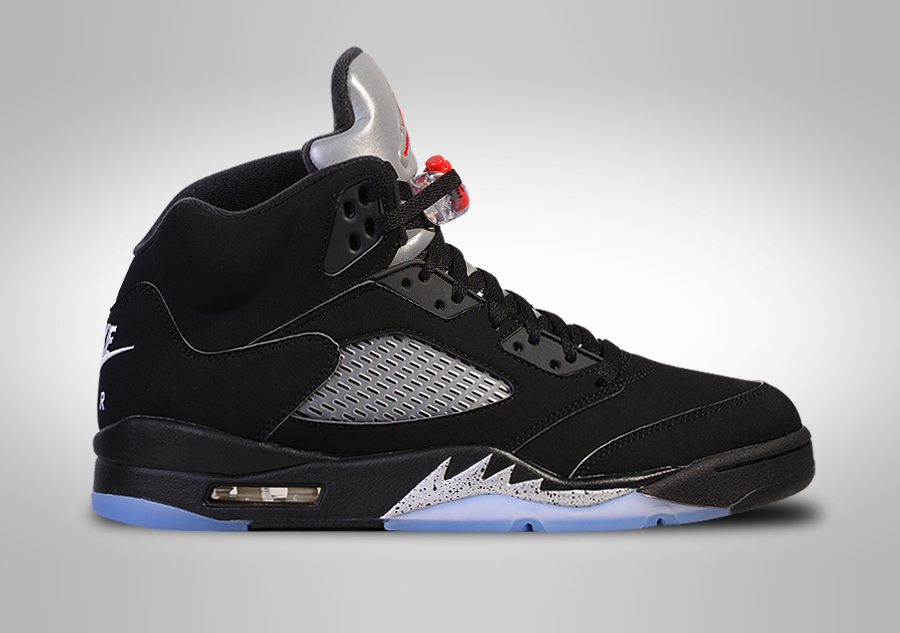 nike air jordan 5 black metallic