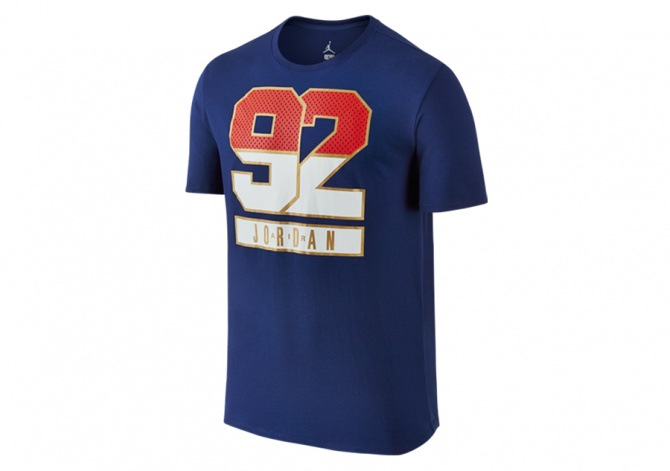 NIKE AIR JORDAN 7 92 TEE DEEP ROYAL BLUE