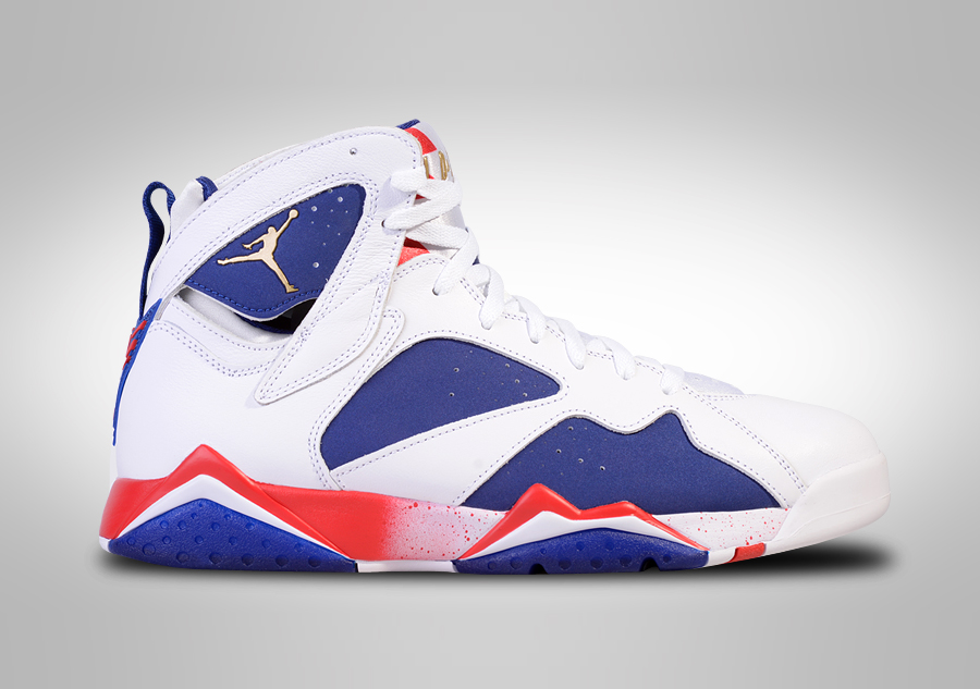 NIKE AIR JORDAN 7 RETRO OLYMPIC ALTERNATE BG (SMALLER SIZE ... Nike Air Jordan 7 Retro