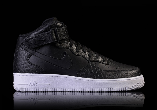 NIKE AIR FORCE 1 MID '07 LV8 BLACK/BLACK-WHITE