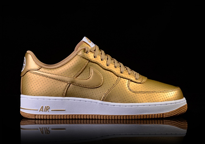 NIKE AIR FORCE 1 '07 LV8 GOLD METALLIC GOLD/METALLIC GOLD-WHITE