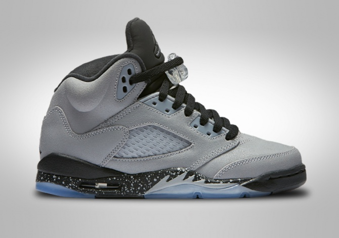 NIKE AIR JORDAN 5 RETRO GG WOLF GREY (SMALLER SIZE)