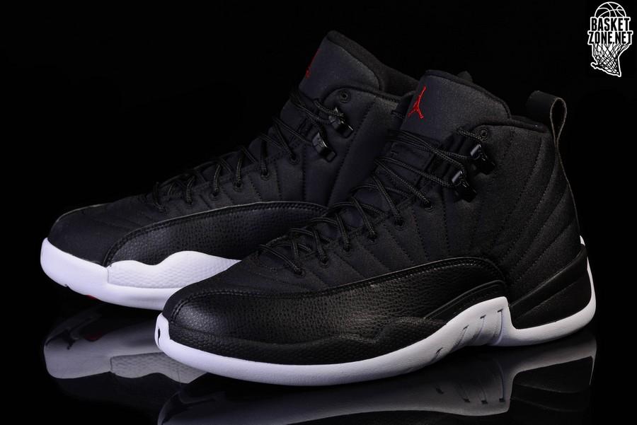 b079fe9b9ae46b Nike Air Jordan 12 Retro Black Nylon ukpinefurniture.co.uk