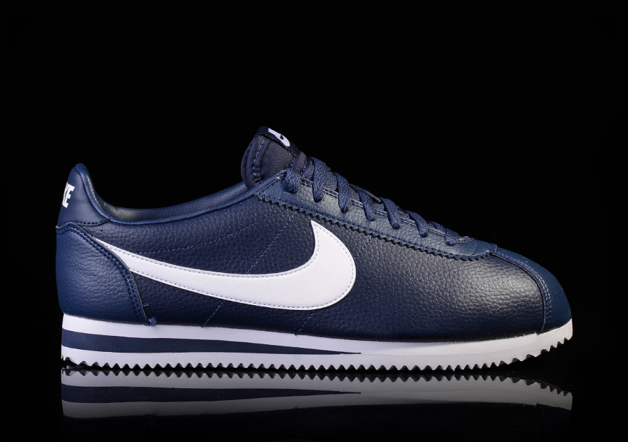 NIKE CLASSIC CORTEZ LEATHER MIDNIGHT NAVY WHITE For EUR8250