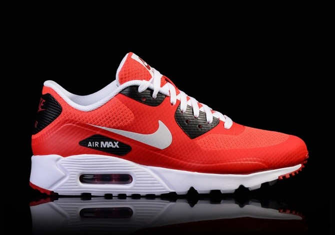 NIKE AIR MAX 90 ULTRA ESSENTIAL PURE PLATINUM-GYM RED-BLACK