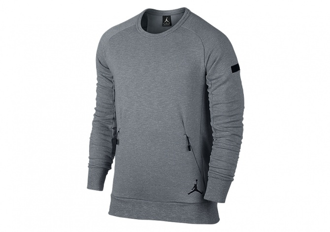 NIKE AIR JORDAN ICON FLEECE CREW COOL GREY