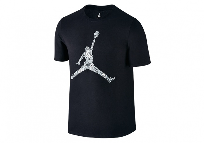 NIKE AIR JORDAN JUMPMAN HANDS DOWN TEE BLACK