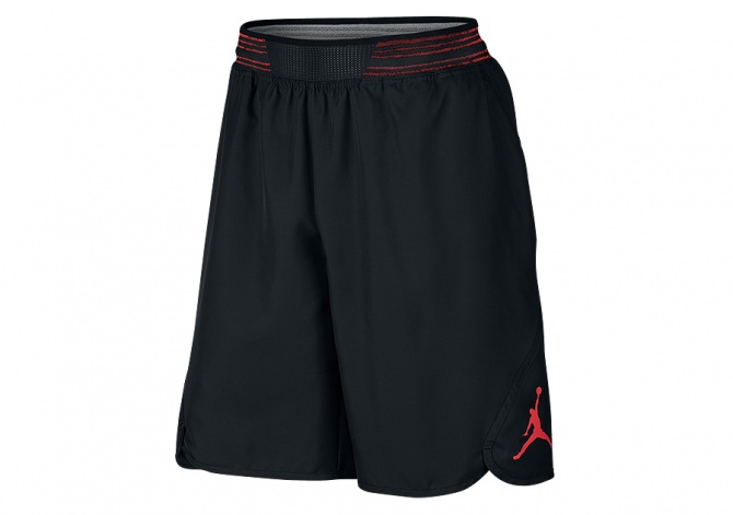 NIKE AIR JORDAN MID-FLIGHT VICTORY SHORT BLACK GYM RED