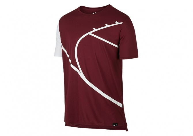 NIKE CORE ART 4 BASKETBALL TEE TEAM RED