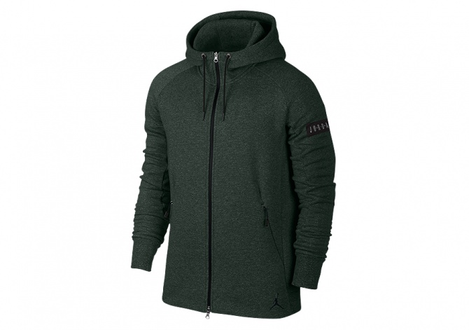 JORDAN ICON FLEECE HOODY GROVE GREEN