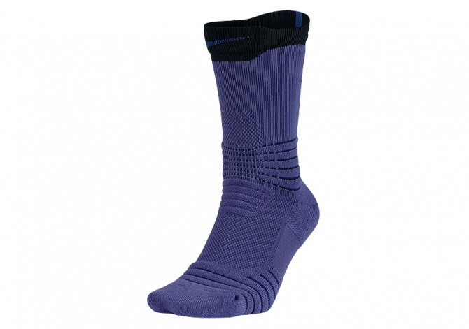 NIKE ELITE VERSATILITY CREW BASKETBALL SOCKS PURPLE DUST