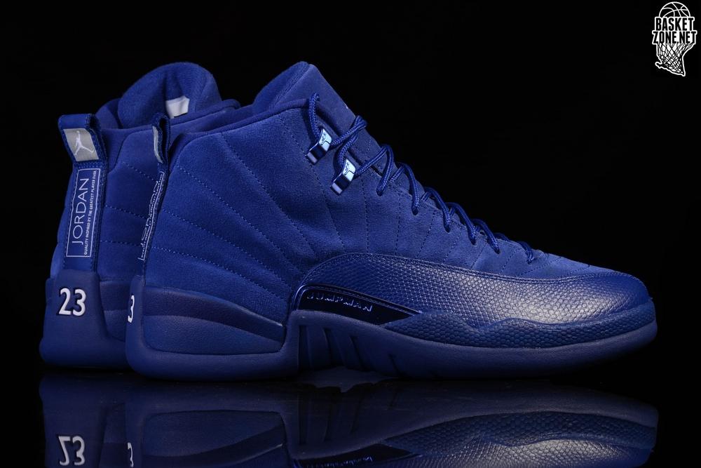 022b9529564c9b Air Jordan 12 XII Retro Deep Royal Blue Mens Basketball shoes