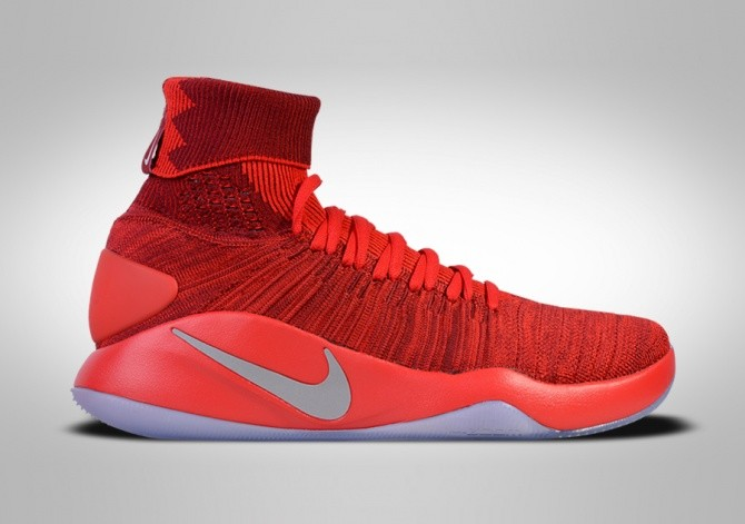 low cost a9c9d 6062c NIKE HYPERDUNK 2016 FLYKNIT TEAM RED
