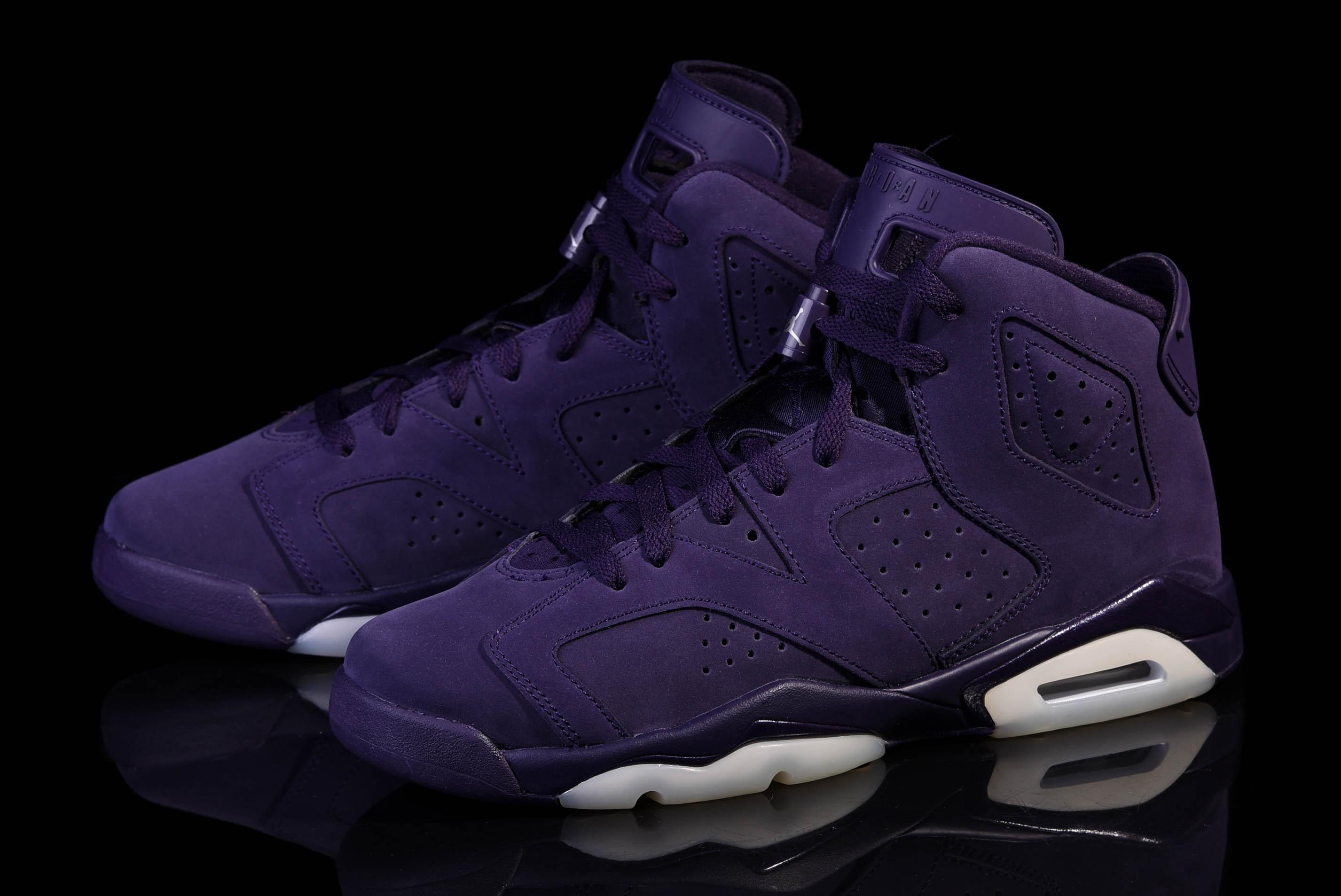 womens air jordan retro 6 all purple