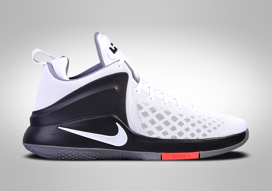 NIKE LEBRON ZOOM WITNESS WHITE BLACK RED