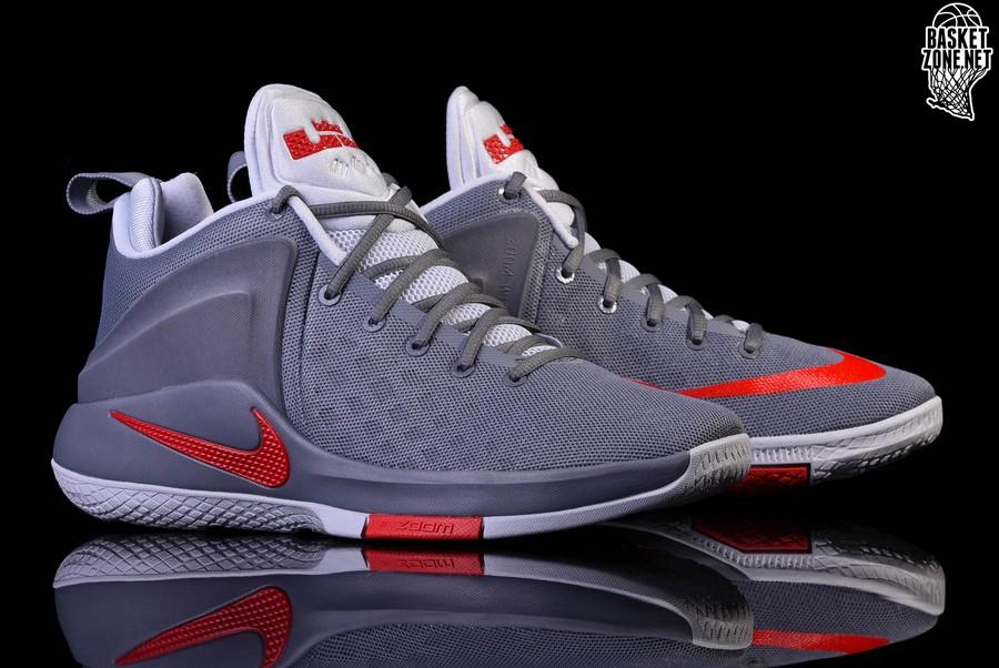 Nike Grey And Orange Basketball Shoes