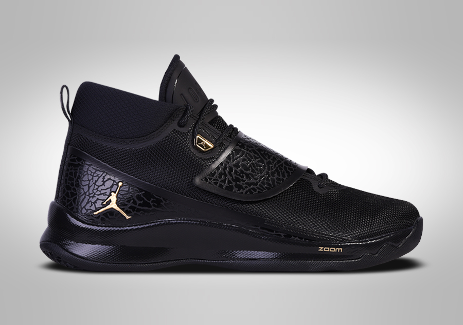 759f24a2b6af7 NIKE AIR JORDAN SUPER.FLY 5 PO BLACK METTALIC GOLD BLAKE GRIFFIN price  €122.50