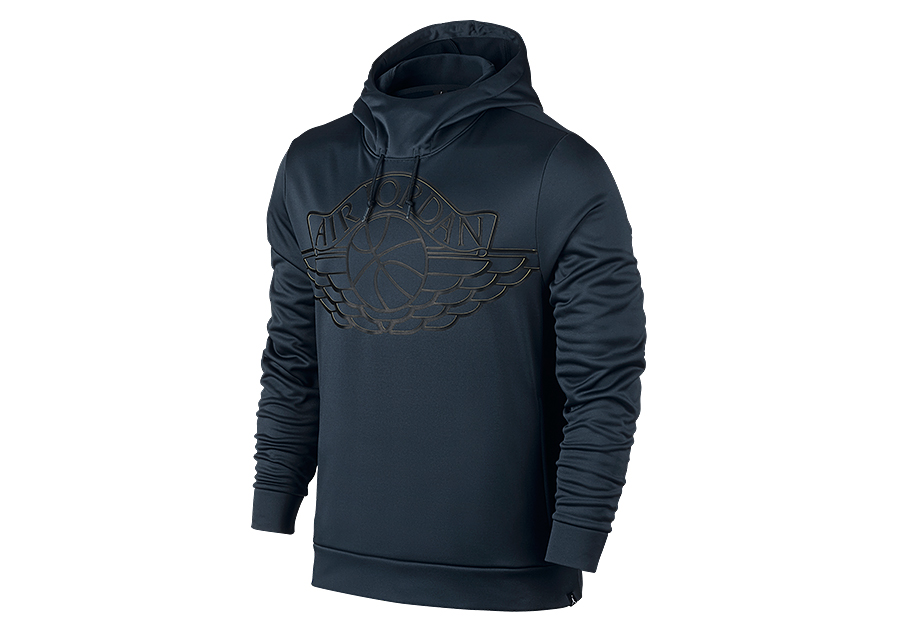e700e7056aa1 NIKE AIR JORDAN WINGS BASKETBALL PULLOVER HOODIE ARMORY NAVY price €62.50