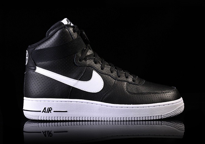 pretty nice 45530 b33e4 NIKE AIR FORCE 1 HIGH  07 BLACK WHITE-WHITE