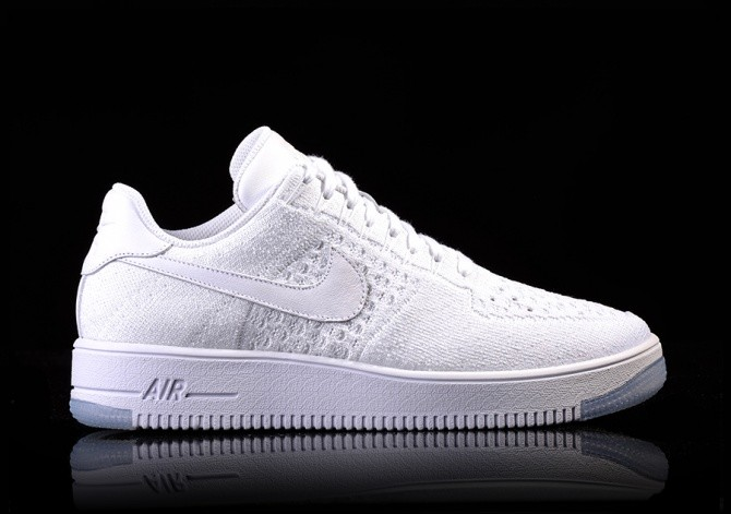 NIKE AIR FORCE FLYKNIT WHITE SHOES