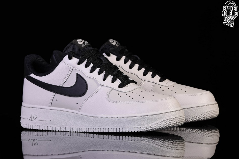 save off e7e1d 87734 black and grey air force ones