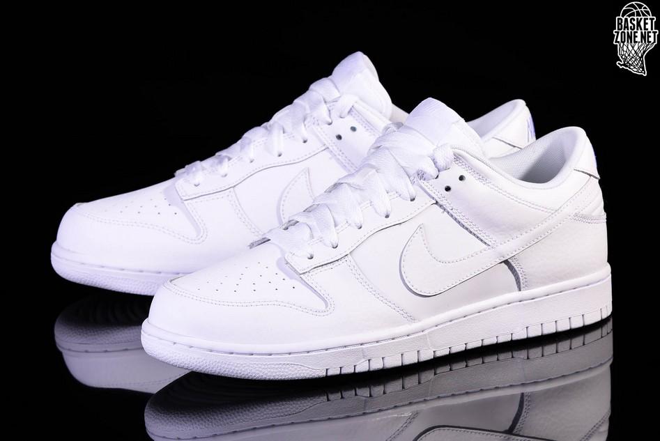 Nike Unisex's Basketball Shoes Dunk Low White/White-Orange Peel