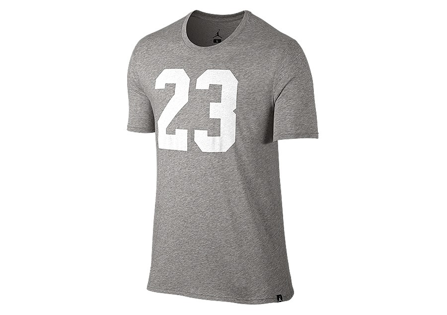 e32a2cbdaa1da0 NIKE AIR JORDAN JSW ICONIC 23 LOGO TEE DARK GREY HEATHER price €27.50
