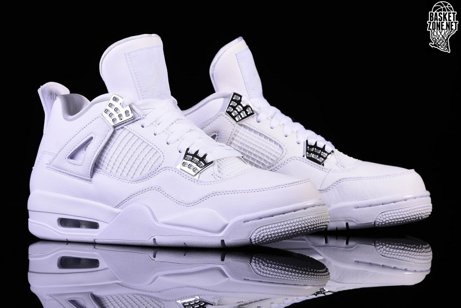 on sale e38b1 fe378 NIKE AIR JORDAN 4 RETRO PURE MONEY