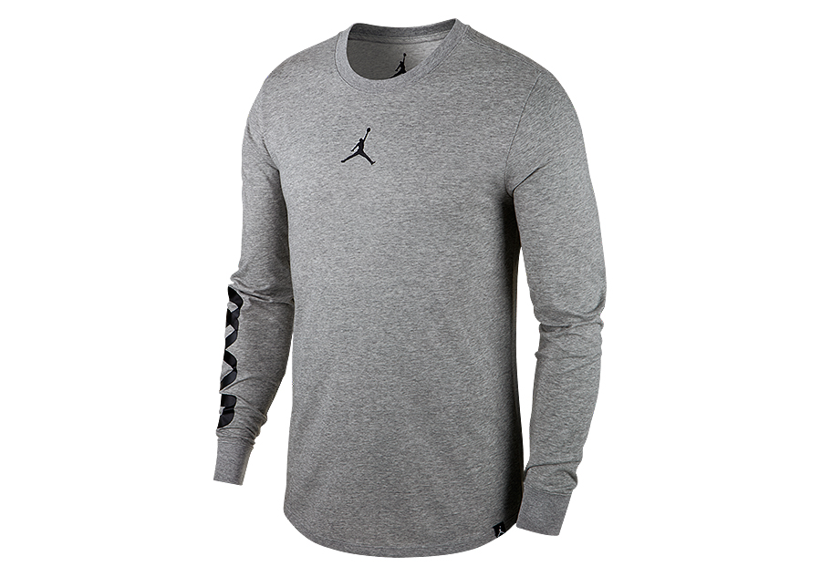 d2f2df4f NIKE AIR JORDAN AIR UP LONG-SLEEVE DRI-FIT TEE DARK GREY HEATHER price  €42.50 | Basketzone.net