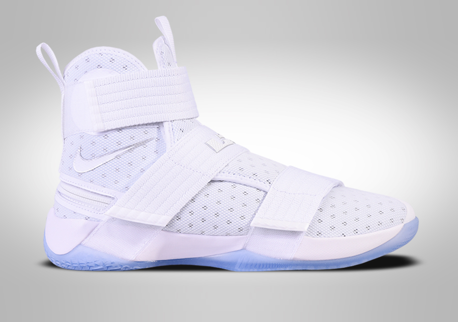 92ee8a6ab101f NIKE LEBRON SOLDIER 10 FLYEASE WHITE METALLIC SILVER price €122.50 ...