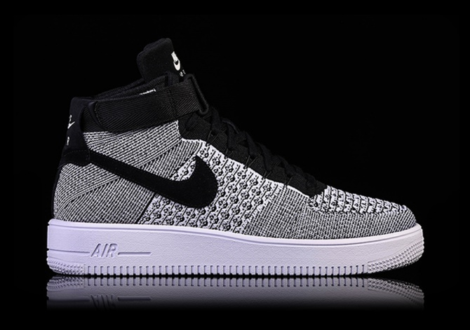 nike air force 1 hi flyknit oreo