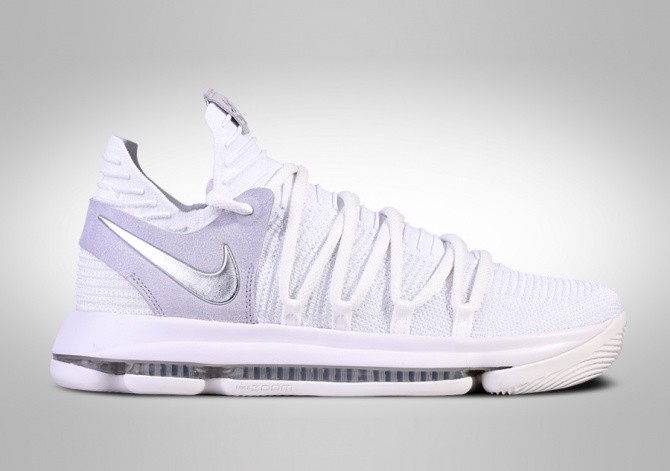 separation shoes 51fa1 3175e NIKE ZOOM KD 10 STILL KD WHITE CHROME per €127,50 ...
